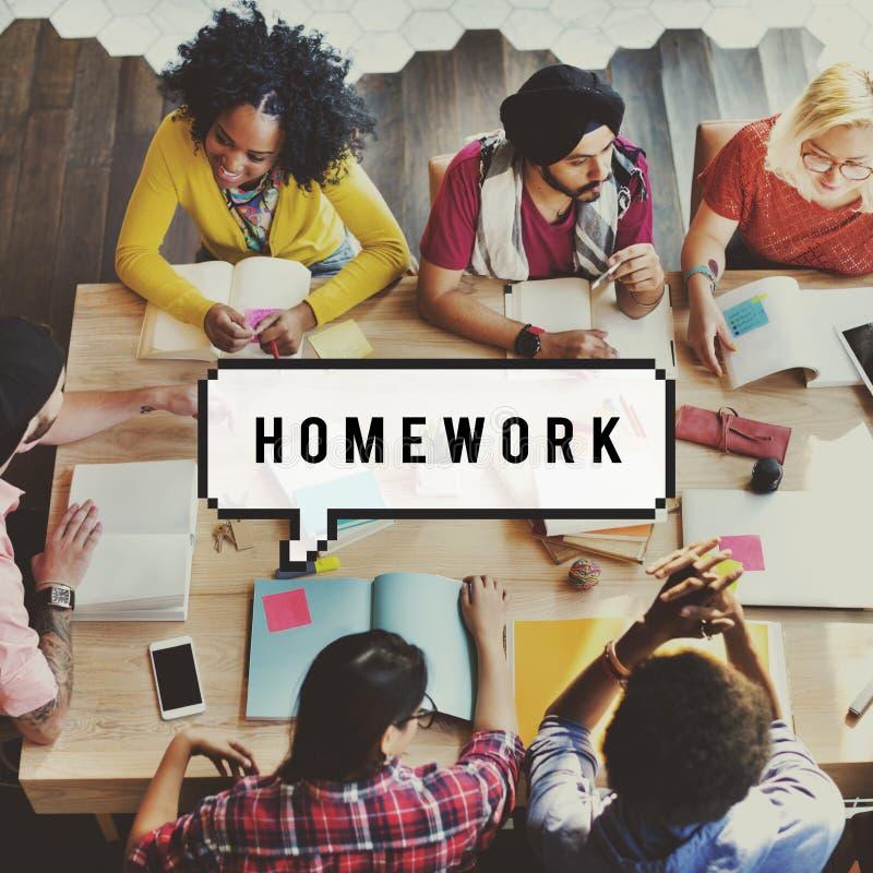 Concept de étude scolaire d'étude d'éducation de travail images stock