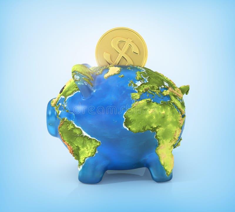 Concept de aard van het besparingsmilieu vector illustratie