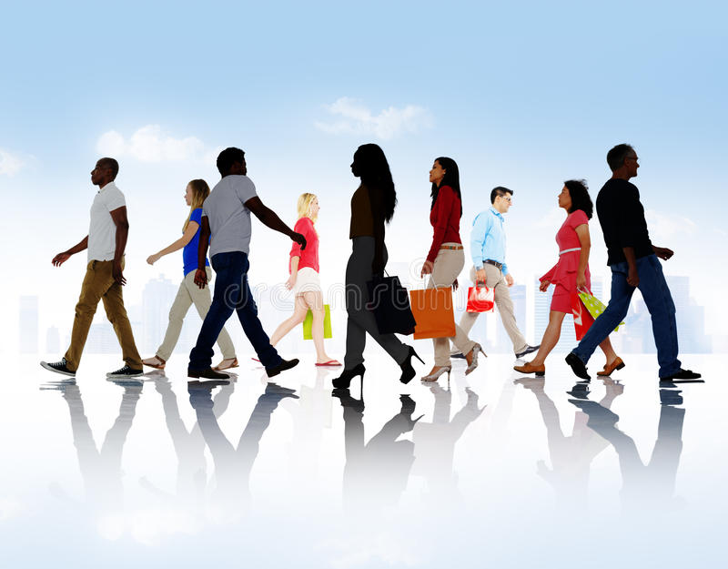 Concept de achat de vente du consommateur de client au détail d'achat images libres de droits