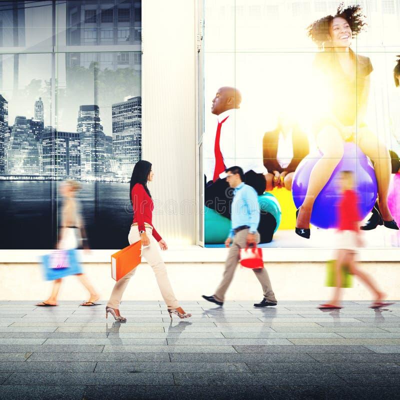 Concept de achat de vente du consommateur de client au détail d'achat images stock