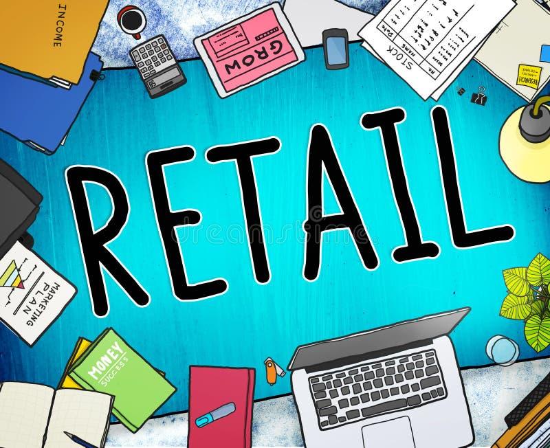 Concept de achat du consommateur des prix de marché au détail illustration de vecteur