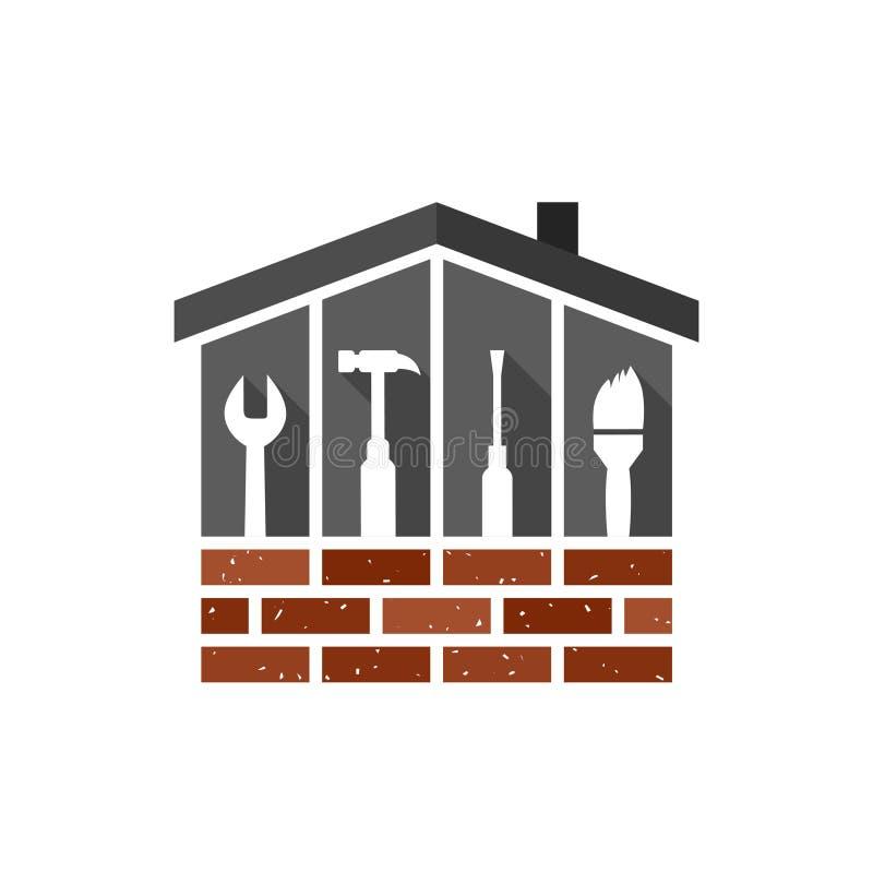 Concept de bâtiment, de construction et de maison illustration stock