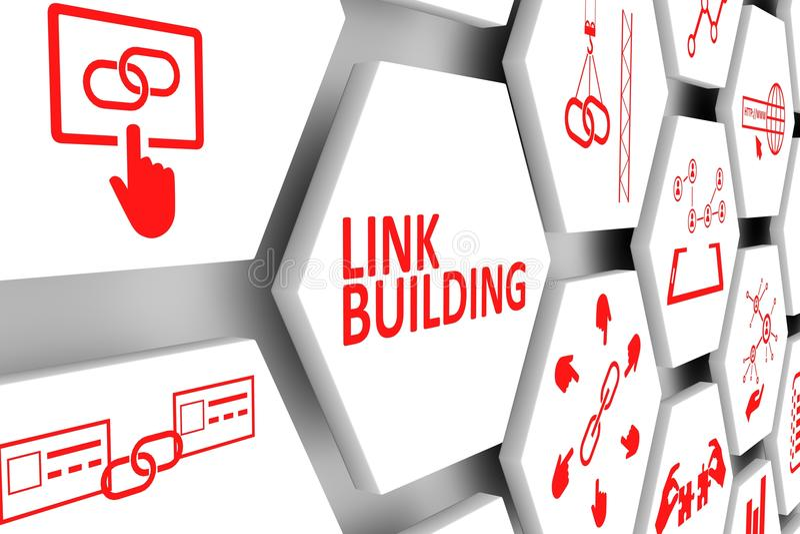Concept de bâtiment de lien illustration libre de droits