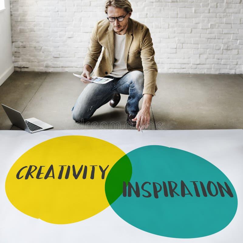 Concept de bénéfice d'idées de croissance d'imagination de créativité d'affaires photo libre de droits
