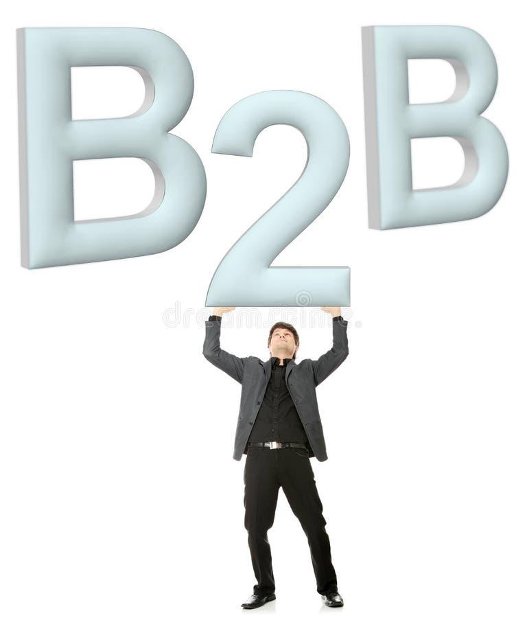 Concept de B2B photographie stock libre de droits