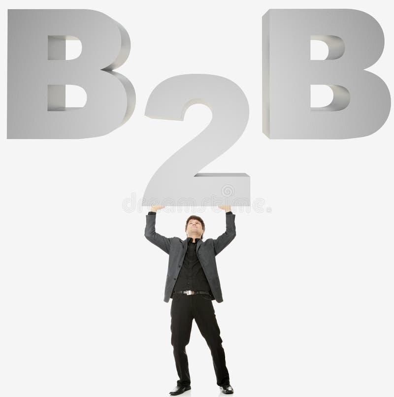 Concept de B2B image libre de droits