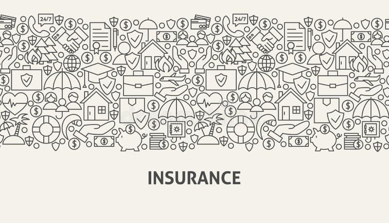 Concept de bannière d'assurance illustration libre de droits