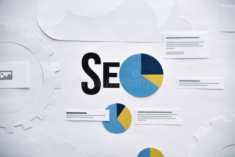 Concept de bannière de site Web d'optimisation de moteur de recherche image libre de droits