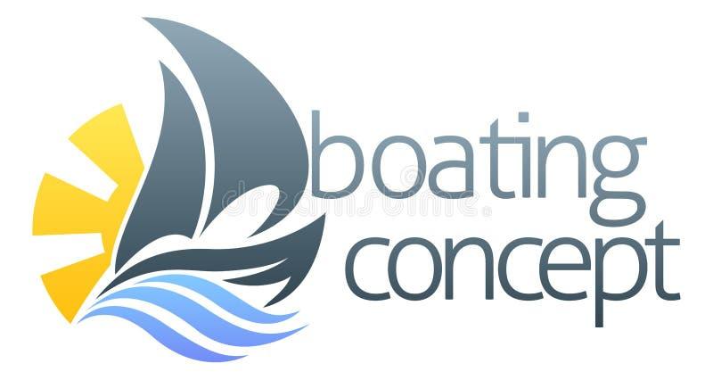 Concept de bateau à voile illustration libre de droits