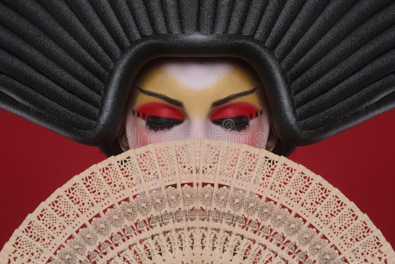 Concept de beauté d'un geisha Girl photographie stock