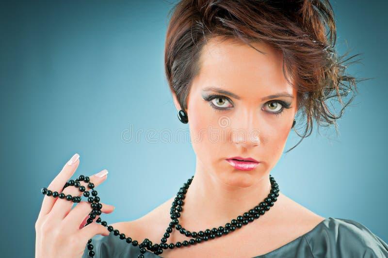 Concept de beauté de mode avec le femme images stock