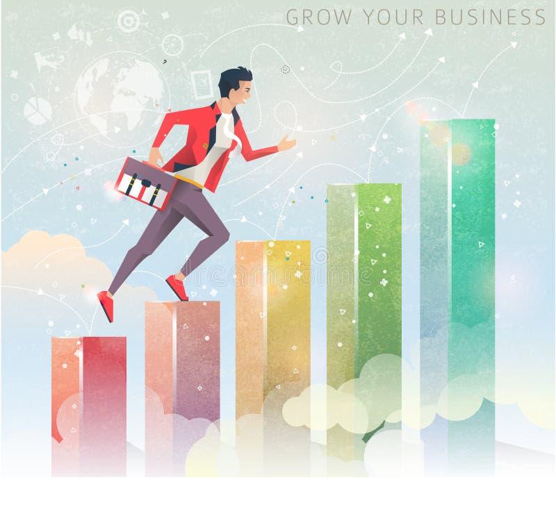 Concept de bedrijfsgroei stock illustratie