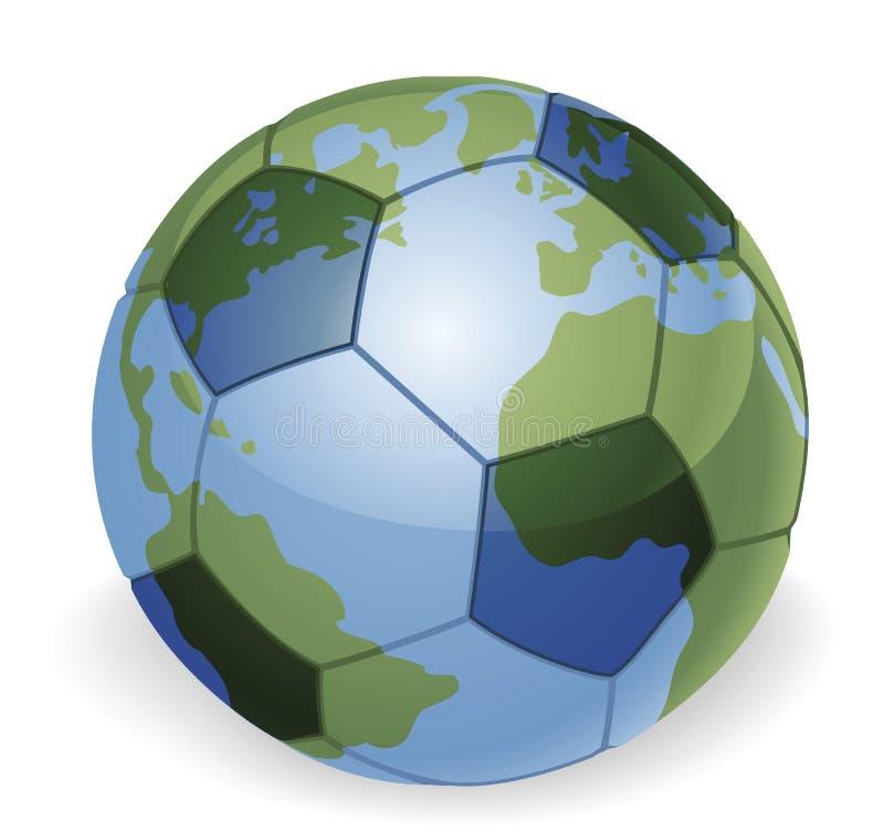 Concept de bille de football de globe du monde illustration stock