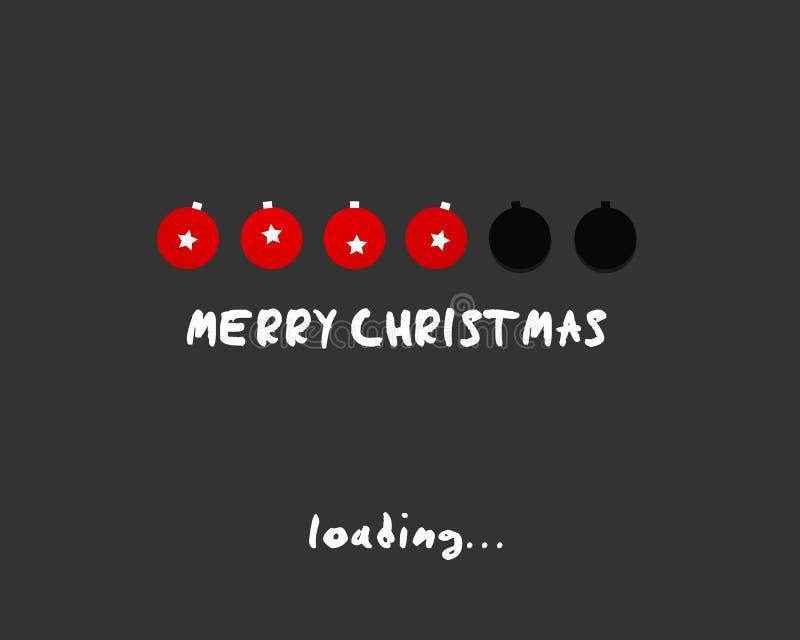 Concept de bille de Joyeux Noël illustration libre de droits