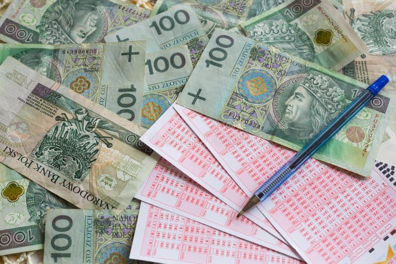 Concept de billet de loterie et d'argent/victoire photos libres de droits