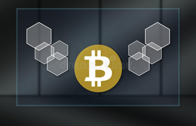 Concept de bitcoin illustration libre de droits