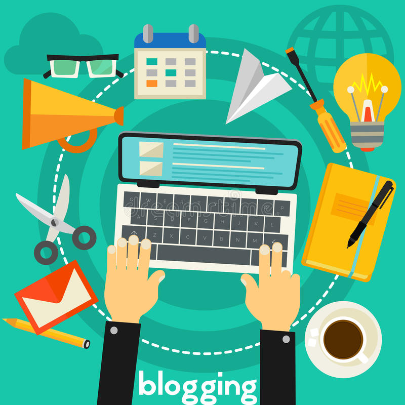 Concept de Blogging illustration de vecteur