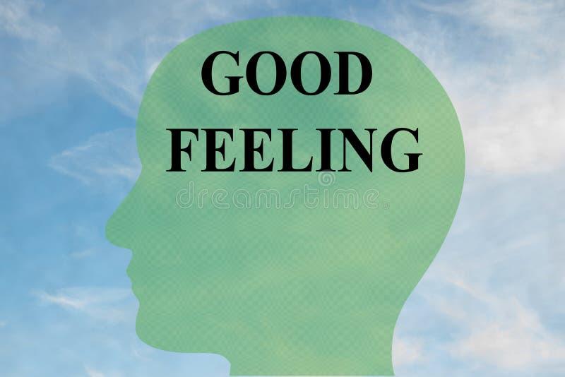 Concept de bon sentiment illustration stock