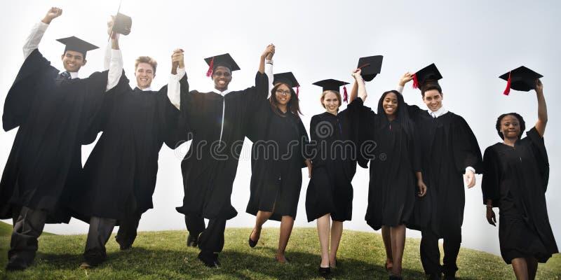 Concept de bonheur de Celebration Education Graduation d'étudiant photos stock