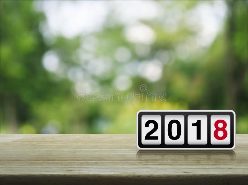 Concept 2018 de bonne année image stock