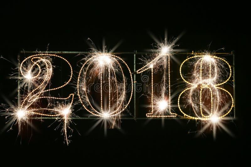 Concept 2018 de bonne année images stock
