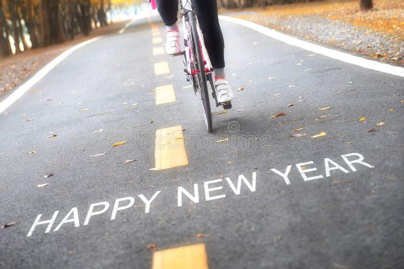 Concept de bonne année et idée de motivation de sport image libre de droits