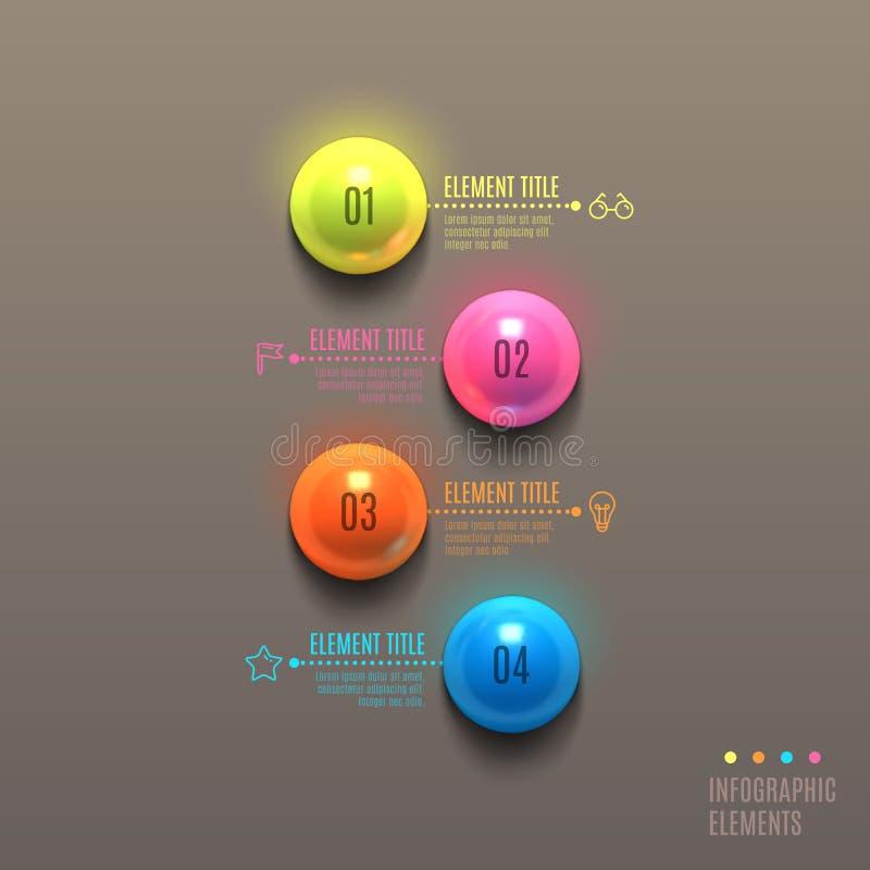 Concept de boule d'Infographics d'affaires illustration stock