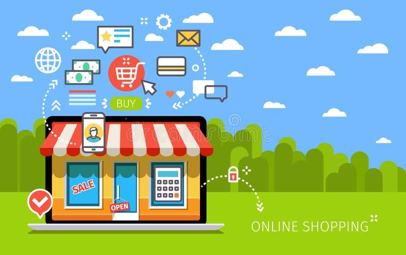 Concept de boutique en ligne illustration de vecteur