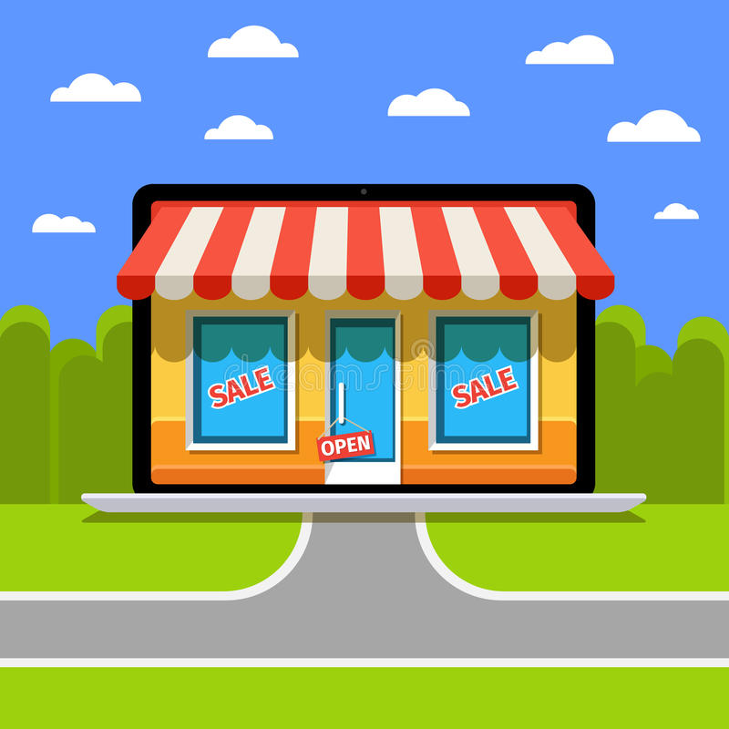 Concept de boutique en ligne illustration stock