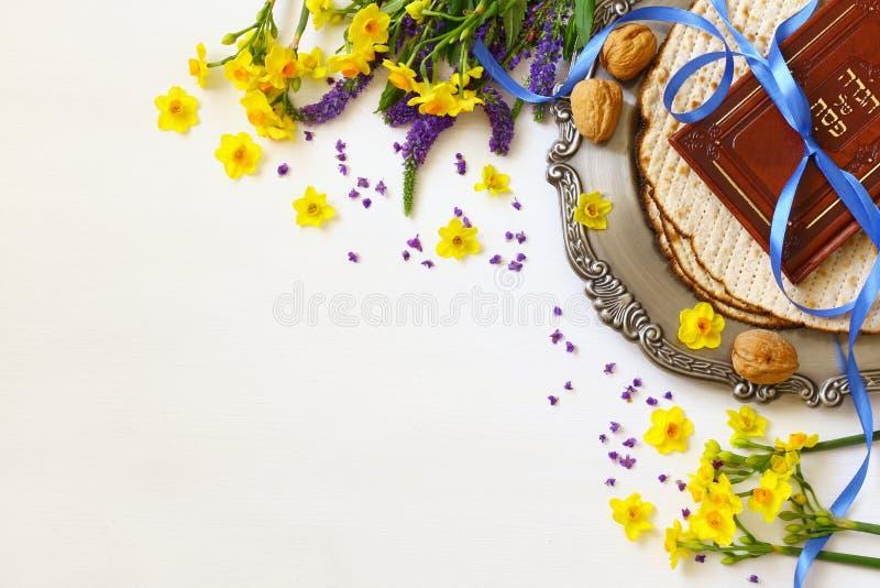 Concept de célébration de Pesah et x28 ; holiday& juif x29 de pâque ; image libre de droits