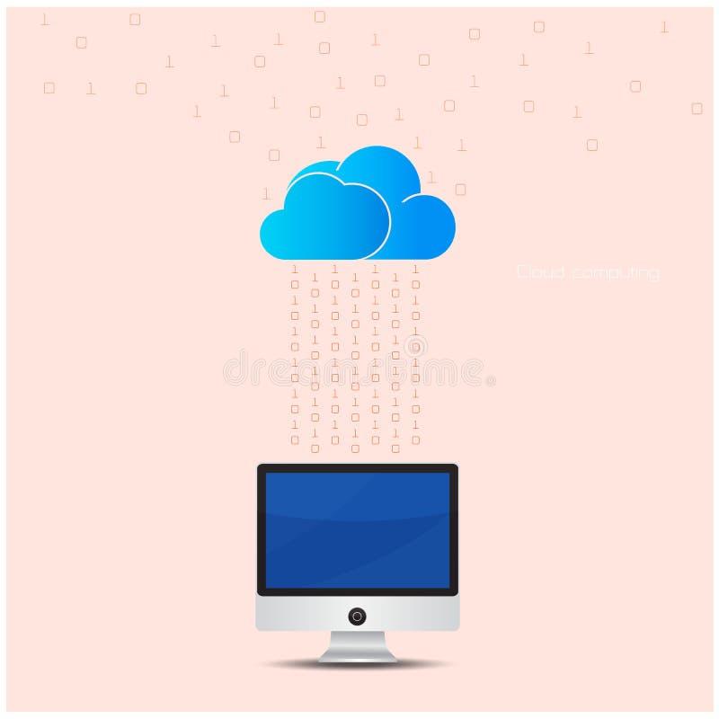 Concept de calcul de fond de technologie de nuage Netw de stockage de données illustration libre de droits