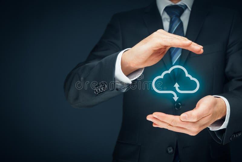 Concept de calcul de garantie de nuage photo libre de droits