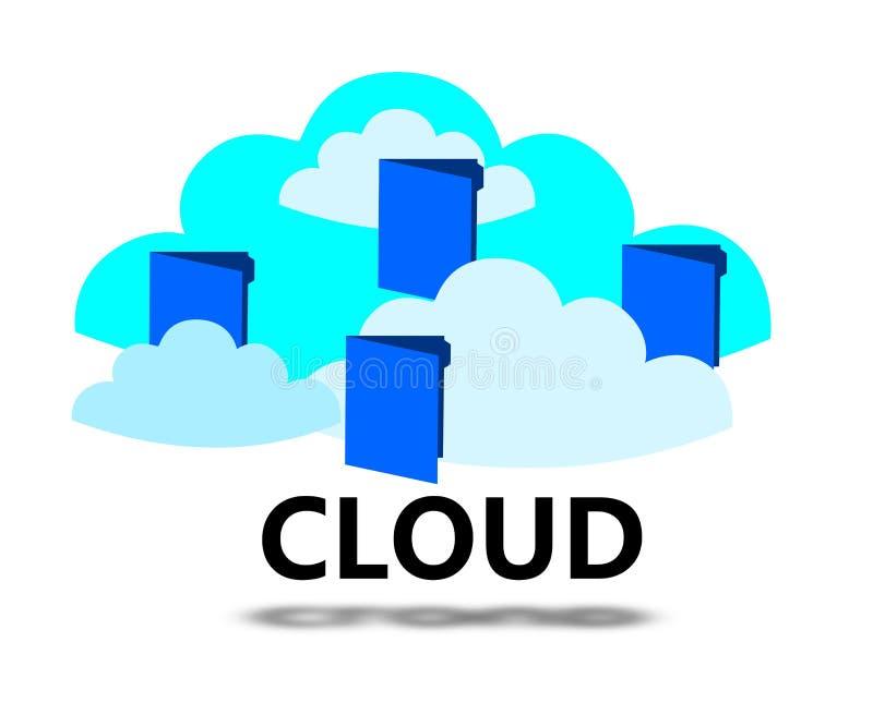 Concept de calcul de nuage illustration stock