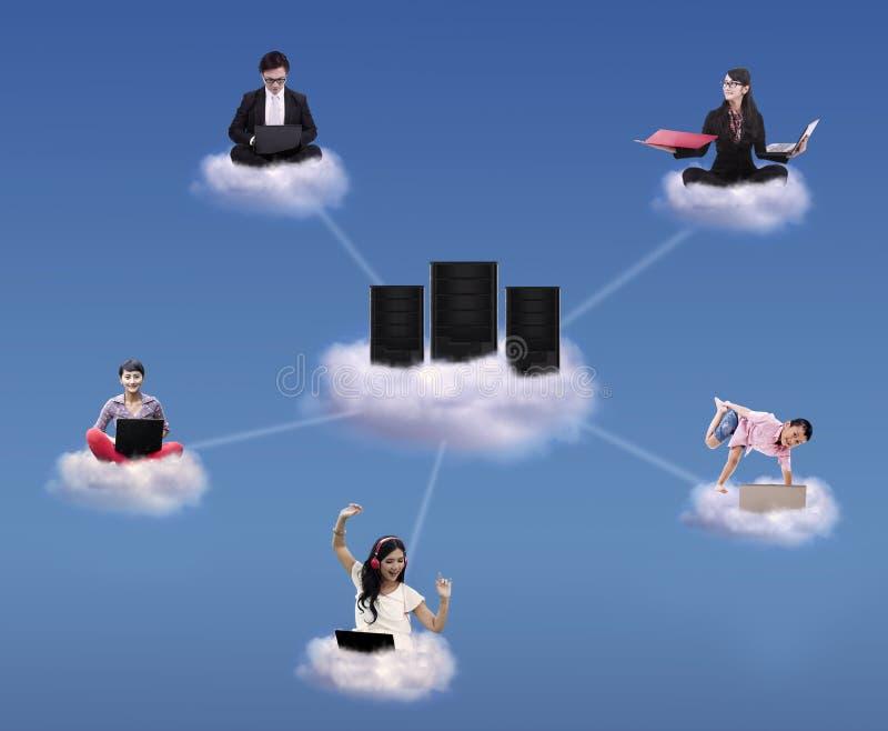 Concept de calcul de nuage photographie stock