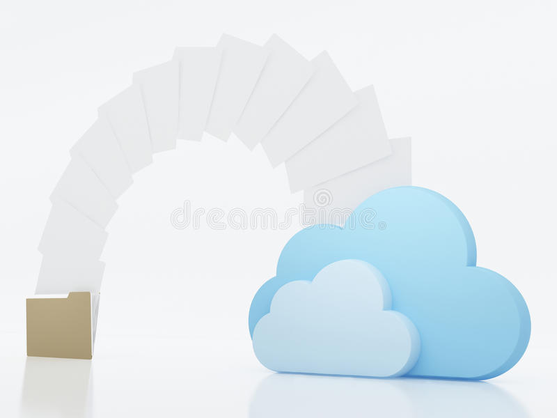 Concept de calcul de nuage illustration stock