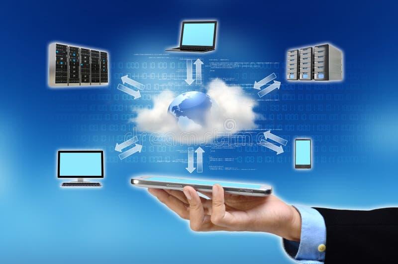 Concept de calcul de nuage image stock