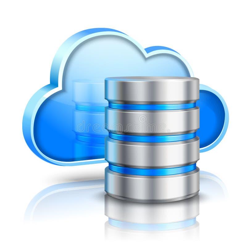 Concept de calcul de nuage illustration libre de droits