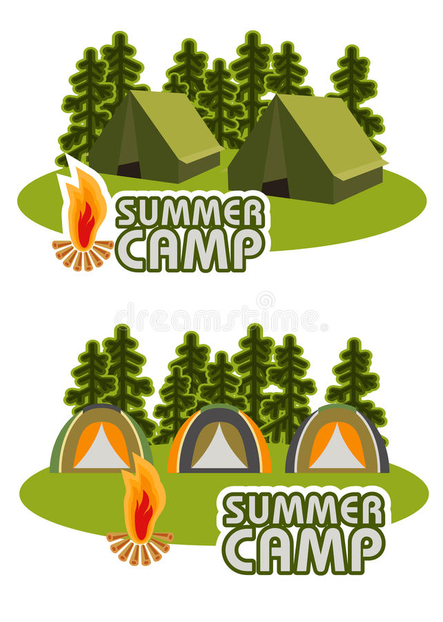 Concept de camping de vecteur illustration stock