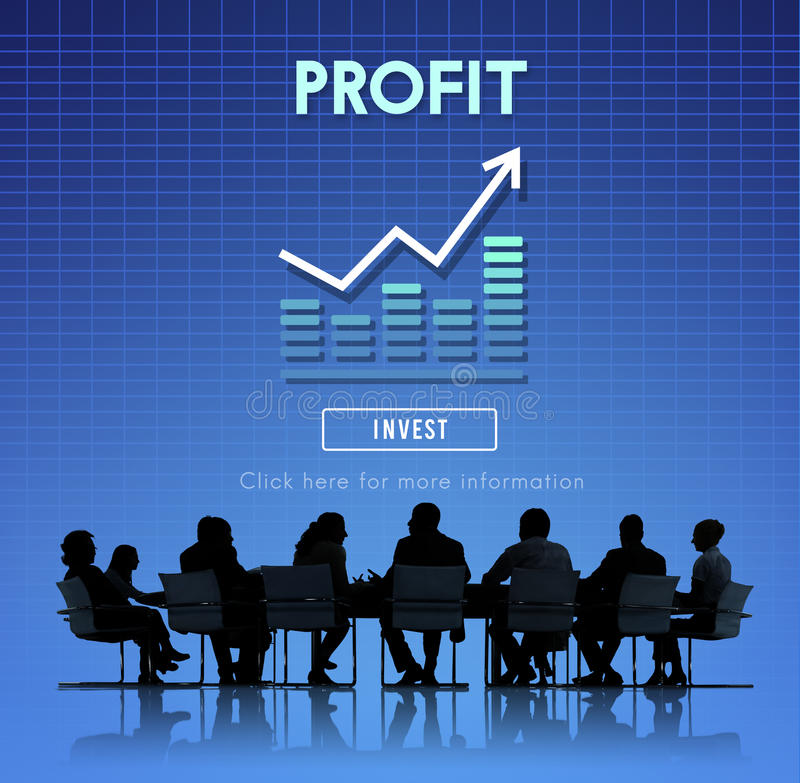 Concept de capitaux d'avantage de comptabilité de bénéfice photo libre de droits
