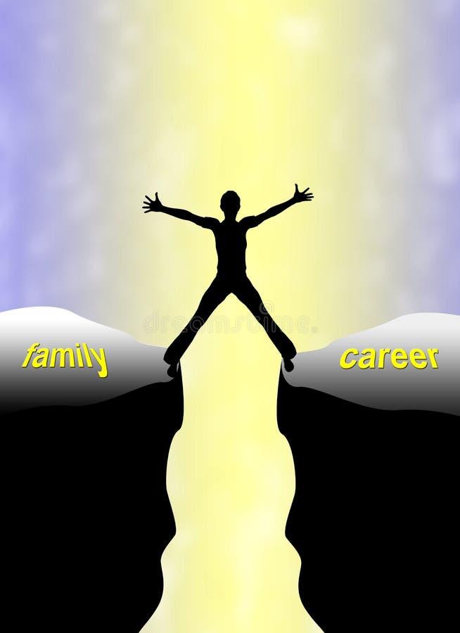 Concept de carrière de famille illustration stock