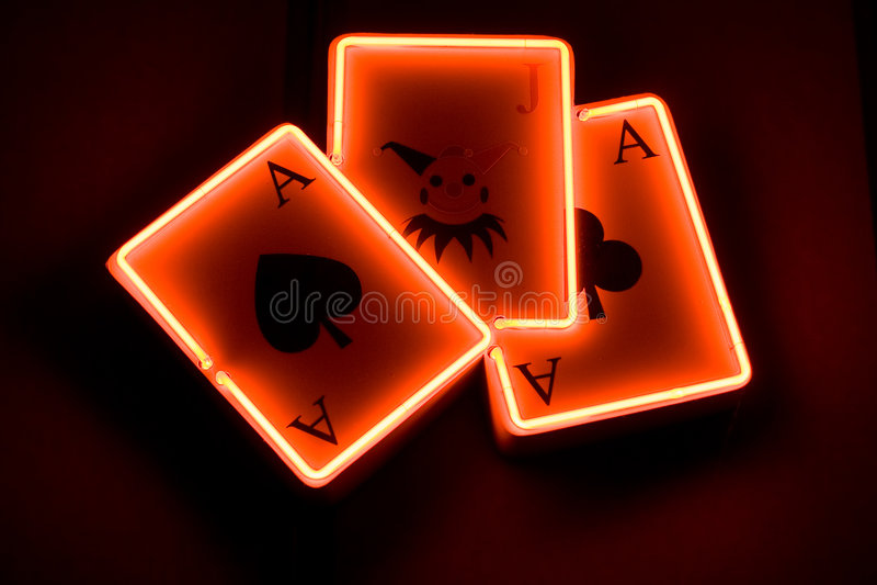 Concept de cartes de jeu de casino images libres de droits