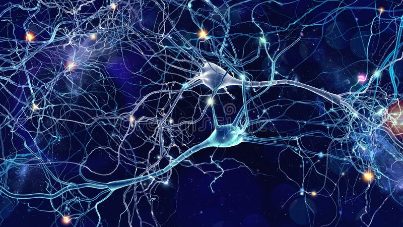 Concept de cellules de neurones illustration libre de droits