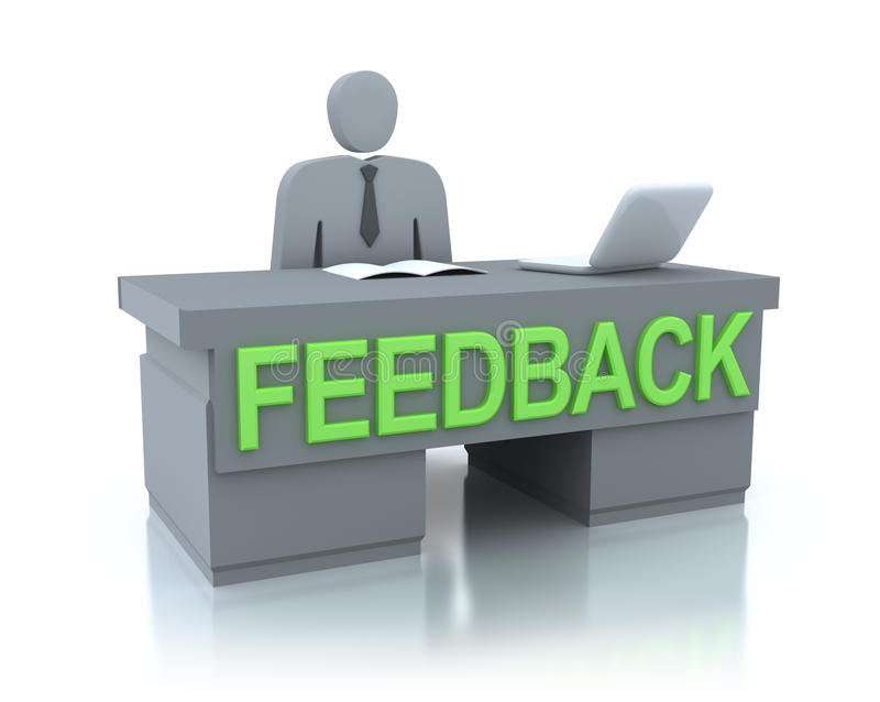 Concept de centre de feedback illustration libre de droits
