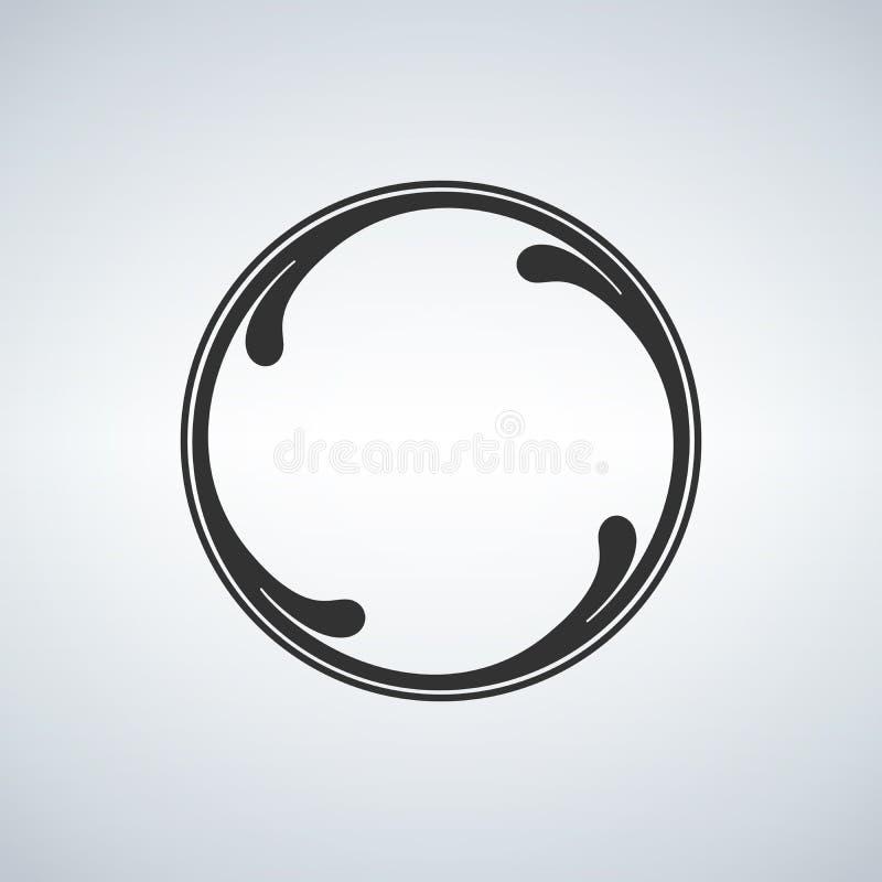 Concept de cercle, vagues illustration libre de droits