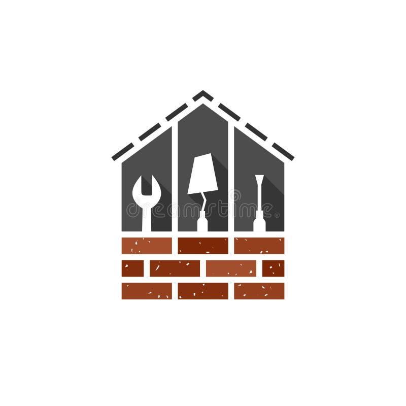 Concept de Chambre, de bâtiment et de construction illustration de vecteur