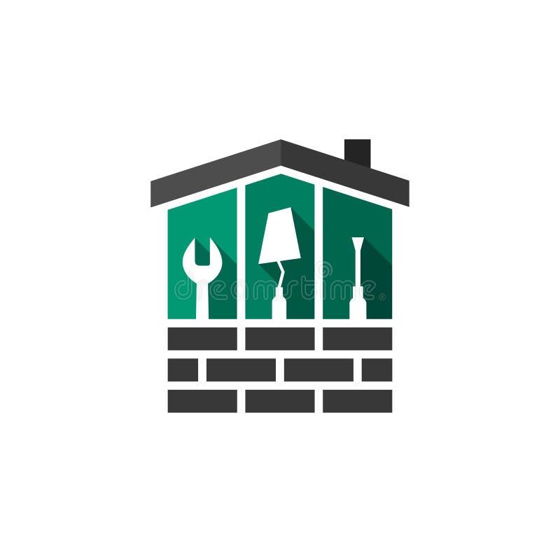 Concept de Chambre, de bâtiment et de construction illustration stock