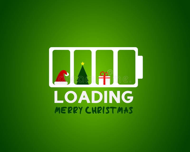 Concept de charge de vente de Web de Joyeux Noël illustration libre de droits