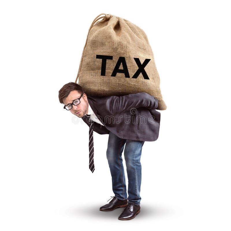 Concept de charge fiscale d'isolement sur le blanc photo libre de droits