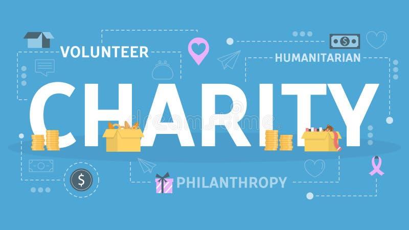 Concept de charité et de donation Idée d'appui illustration libre de droits