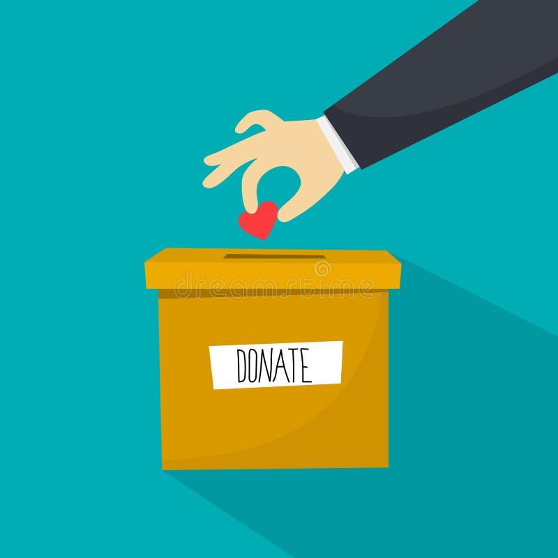 Concept de charité La main donnent pour aider de pauvres personnes illustration stock